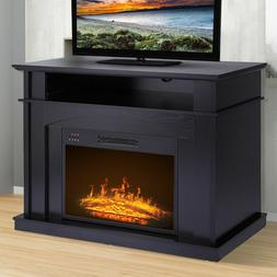 "Black Electric Fireplace TV Console Stand for TVs up to 41"","
