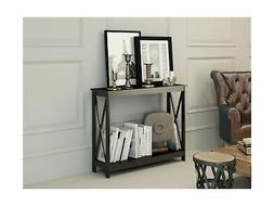Black Finish 3-Tier X-Design Occasional Console Sofa Table B