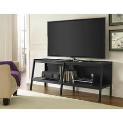 black ladder tv stand