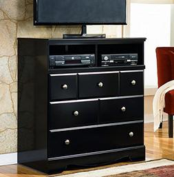 Black Media Chest - Signature Design by Ashley Furniture