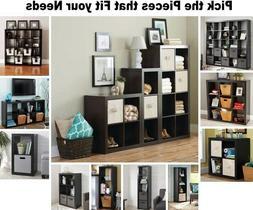 Black Shelf Organizer Display Stands Cube Storage Bench Book