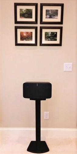 Beautiful Black Wood Single Speaker Stand Handcrafted for SO
