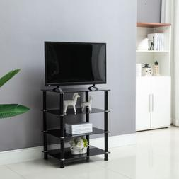 BN Glass TV Mount Stand Shelves Storage Console Table Media