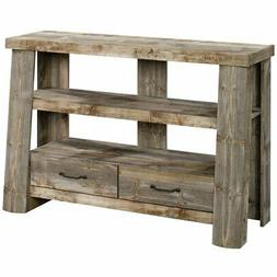 """Sauder Boone Mountain Farmhouse Wood 50"""" TV Stand in Rustic"""