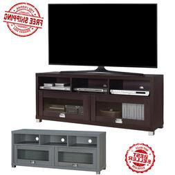 Brown Gray TV Stand Up to 75 In Flat Screen Home Furniture E