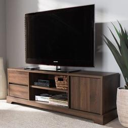 Baxton Studio Burnwood Modern and Contemporary Wood TV Stand