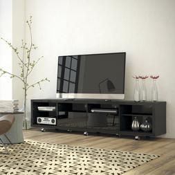 """Manhattan Comfort Cabrini 2.2 Series 86"""" TV Stand in Black"""