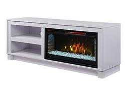 Comfort Smart Cameron Electric Fireplace TV Stand, White - C