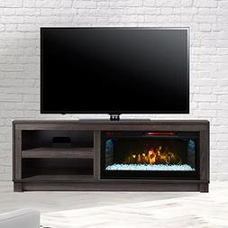 Comfort Smart Cameron Electric Fireplace TV Stand, Grey - CS