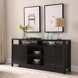 cappuccino cabinet highboy tv stand with multiple