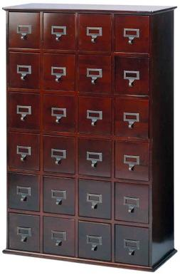 Leslie Dame CD-456C Solid Oak Library Card File Media Cabine