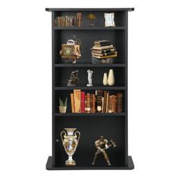 CD Media Storage Cabinet DVD Book Shelf Adjustable 5 Layers