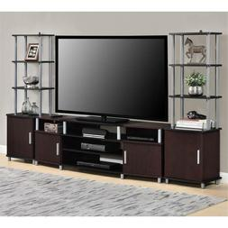 "Cherry Black 3 Piece 63"" TV Stand Set Home Living Accent Fur"