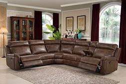 AC Pacific Clark Collection Contemporary 6-Piece Upholstered