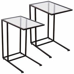 Coffee Tray Side Sofa End Table Ottoman Couch Stand TV Lap S