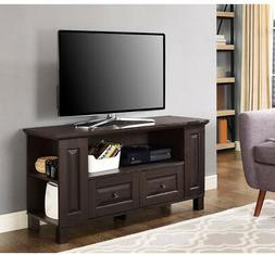 "WE Furniture 44"" Columbus TV Stand Console, Espresso"