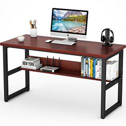 "Tribesigns Computer Desk with Bookshelf, 55"" Simple Modern S"