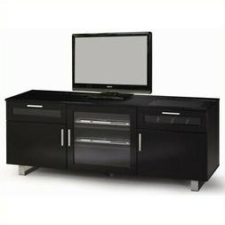 Connect-It Power Drawer Glossy Black Finish TV Stand Media S