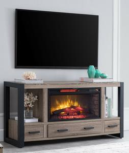 Media Fireplace Console 60 in TV Stand Entertainment Center