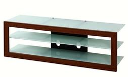 "Contempo Tempered Glass TV Stand for TV's Up To 65"". Frosted"