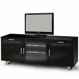 """Bowery Hill Contemporary 60"""" TV Stand in Black"""