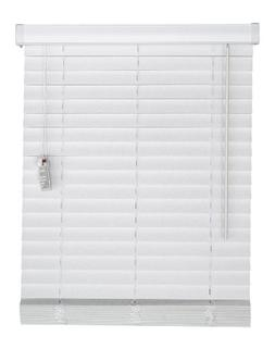 Corded, 2 inch Faux Wood Blind,  White, 50W x 36L