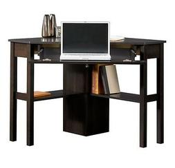 CORNER COMPUTER DESK CINNAMON CHERRY Drawer, Home Office Liv