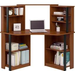 Corner Computer Desk with Hutch Home Office Student Workstat