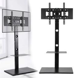 Corner Floor TV Stand Holder With Mount Large Steel Base Fit
