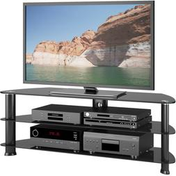 """Corner TV Stand for TVs up to 60"""" media console entertainmen"""