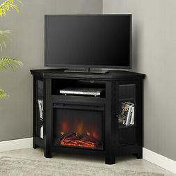 Corner TV Stand With Fireplace Electric For Flat Screens 46