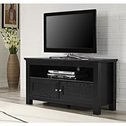 44 in. Cortez Wood TV Console - Black