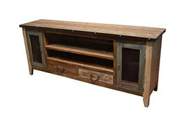 Crafters & Weavers 76 Inch Antique Finish TV Stand Media Con