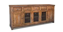"""Crafters and Weavers Rustic Reclaimed Solid Wood 82"""" Console"""