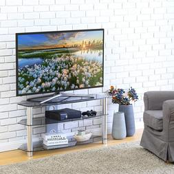 """Curved Tempered Glass TV Stand Suit for up to 60""""  LCD LED O"""