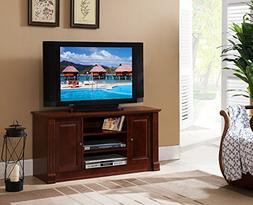 Kings Brand Furniture Dark Walnut Finish Wood 47-Inch TV Con
