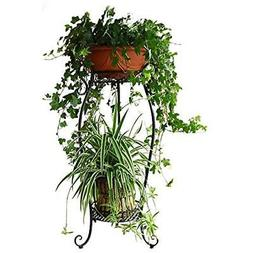Dazone Demountable Metal 2 Tiers Plant Stand Indoor Floor Mo
