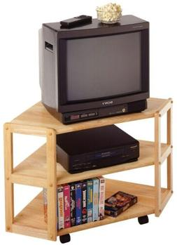 Winsome Wood 83423 Natural Wood Corner Media Cart