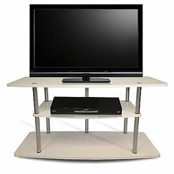 Convenience Concepts Designs-2-Go Wide 3-Tier TV Stand, Whit