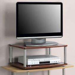 designs2go 2 tier swivel tv stand