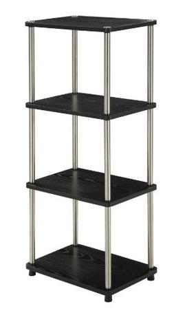 Convenience Concepts Designs2Go 4-Tier Bookshelf/Media Tower