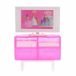 Doll TV Cabinet Stand Simulation Plastic Furniture Decoratio
