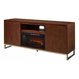 "Draper Cabinet Walnut & 28"" Infrared Firebox"