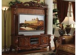 Dresden Antique Style Ornate TV Stand & Hutch In Traditional