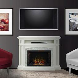 "Drew Cabinet White & 33"" Infrared Firebox"