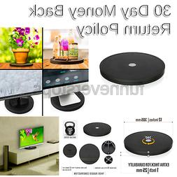 Aleratec Dual Sided TV Swivel Stand, 360 Lazy Susan Featurin