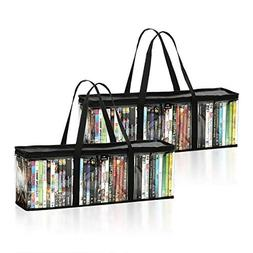 DVD Storage Bags  by Mivi : Transparent DVD & Blu-Ray Storag