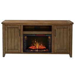 "Dylan Cabinet Weathered Brown & 26"" Infrared Firebox"