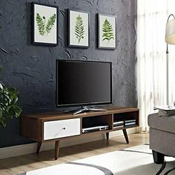 Modway Transmit Mid-Century Modern Low Profile 55 Inch TV St