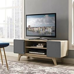 Modway Tread Mid-Century Modern 47 Inch TV Stand in Natural